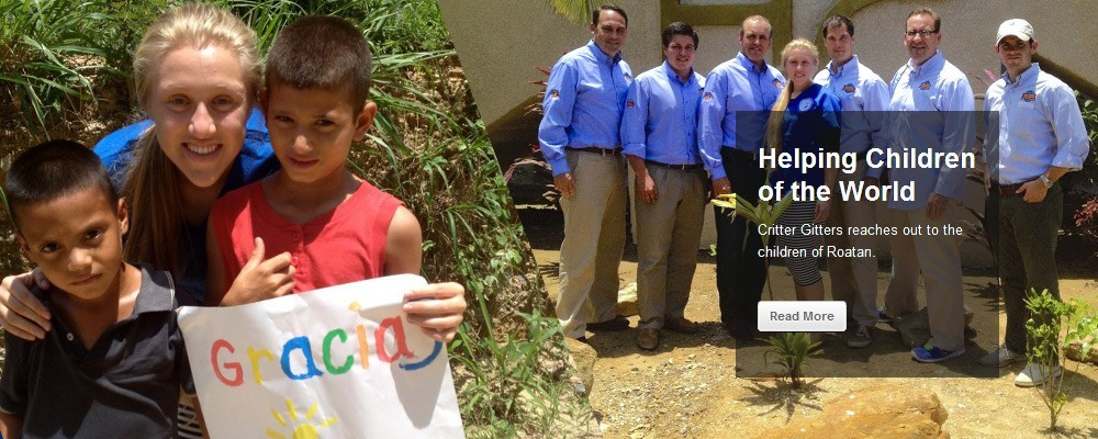 Helping Children of the World. Critter Gitters reaches out to the children of Roatan.
