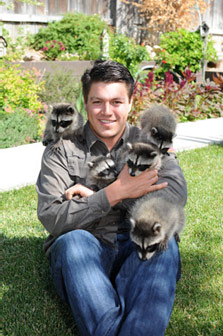 Critter Gitters Owner and Baby Raccoons
